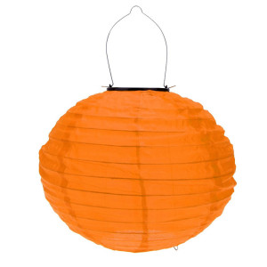 solcelle lampe orange